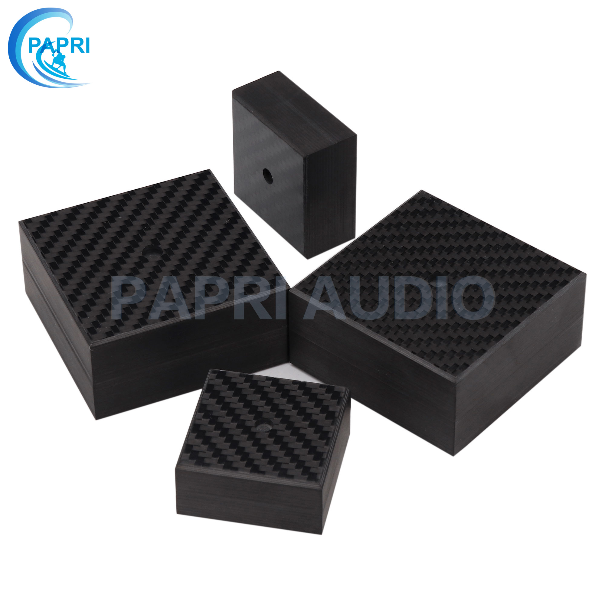 PAPRI Speaker Spike 40x20mm 60*30mm Base Feet Carbon Fiber Stand Chassis Cone Pad Isolation Pads HiFi Amplifier CD Player 1PCS