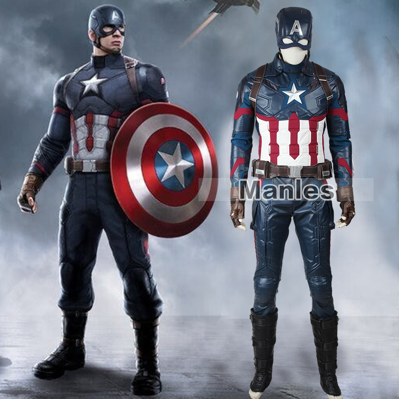 Marvel's Captain America Civil War Steve Rogers Costume Cosplay Captain America Clothing Superhero Suit Adult Men Halloween Male