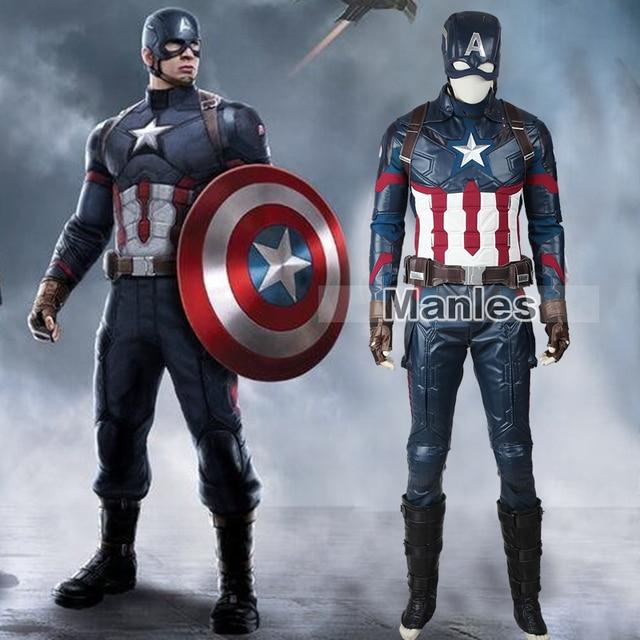Marvelu0027s Captain America Civil War Steve Rogers Costume Cosplay Captain America Clothing Superhero Suit Adult Men & Marvelu0027s Captain America Civil War Steve Rogers Costume Cosplay ...