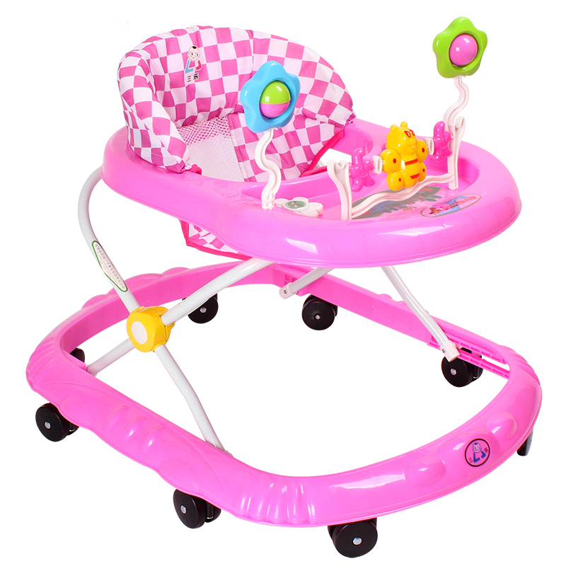 Best Selling 6-18 months Safety Baby Walker Anti Rollover Multifunctional Baby Walkers With Music Wheels Toys Plate Folding Easy new design baby walker multifunctional music plate u type folding easy anti rollover safety scooter baby walkers portable carry