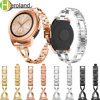 20MM wristband For Samsung Galaxy Watch 42mm / gear S2/ Galaxy active2 Band Replacement steel Crystal strap For Amazfit GTR 42mm 20mm strap for samsung galaxy watch active galaxy watch 42mm gear s2 band stainless steel replacement crystal women wristband