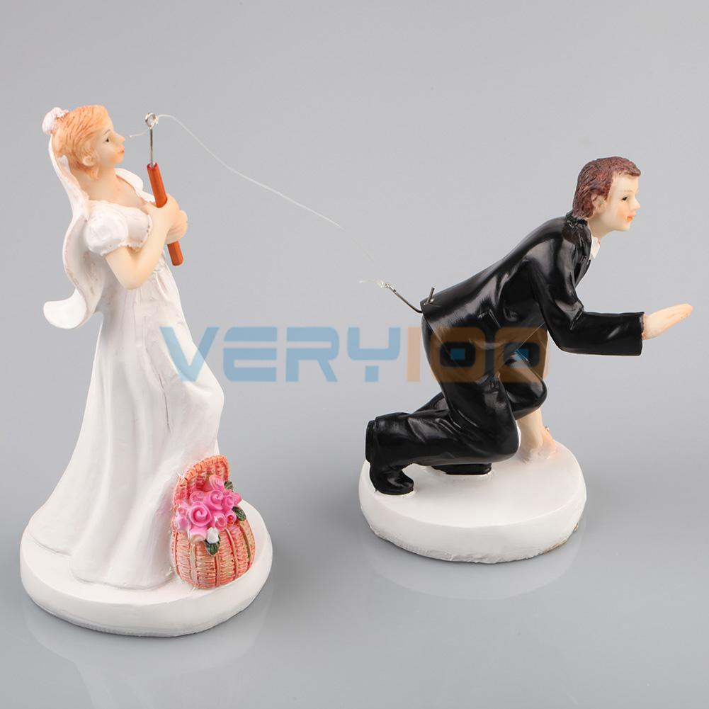 wedding figurines for cakes aliexpress buy and groom fishing wedding cake 9457