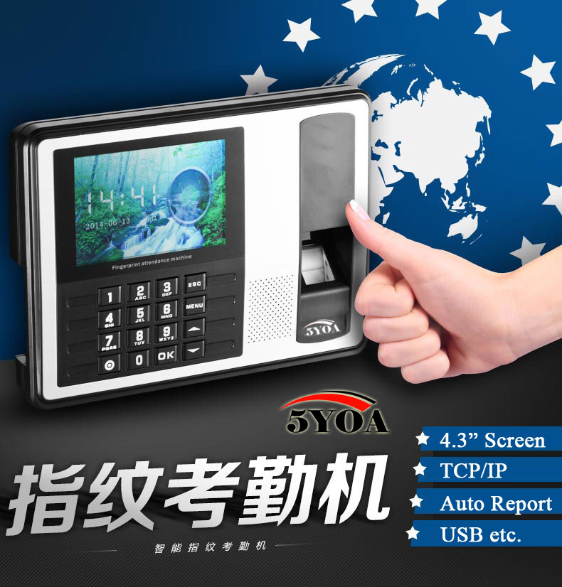 Biometric Fingerprint Time Clock Recorder Attendance Soco