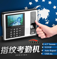 Biometric Fingerprint Time Clock Recorder Attendance soco ingles TCP IP Electronic Punch Card ID Reader System Machine Employee