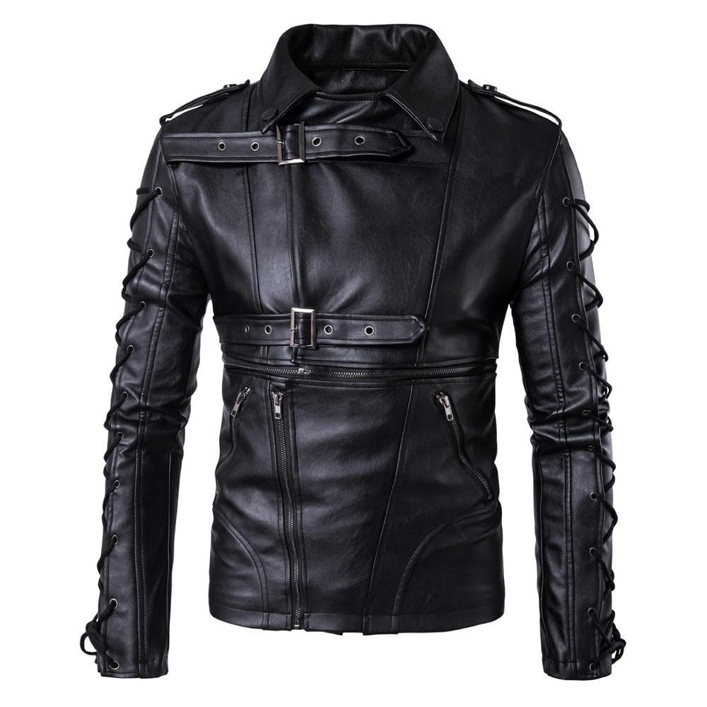 Куртка из искусственной кожи для мужчин, 072806