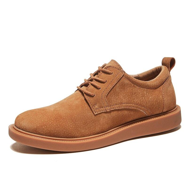 2019 nouvelles chaussures Oxford hommes baskets en cuir chaussures pour hommes printemps automne daim chaussures hommes marron Sneakers Chaussure Homme