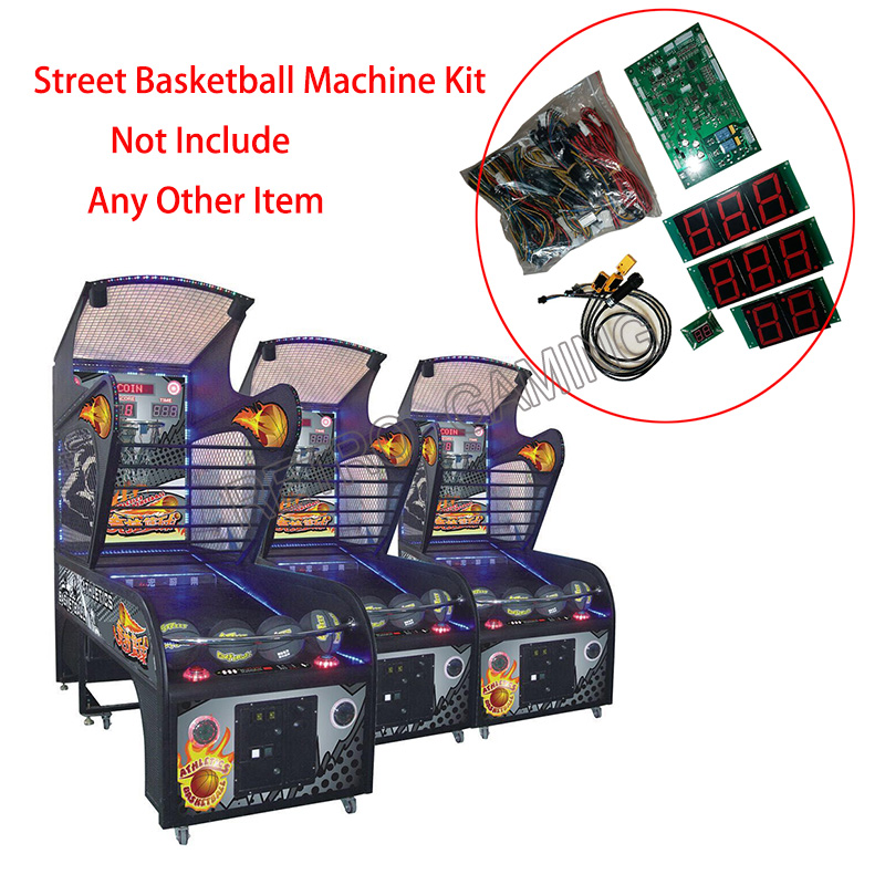 Street Basketball Machine Kits, Coin Operated Games Kit With Motherboard Sensor And Wires For Arcade Shooting Ball Game