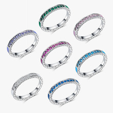 AAA Cubic Zirconia Simple Design Multicolor Ring Female Party Dress Accessories Fashion Jewelry Wholesale KR092