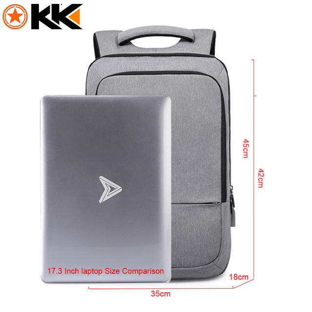 KAKA mochila hombre Casual Men school Backpack Waterproof USB Charging Travel Backpack Large Capacity 17.3 1