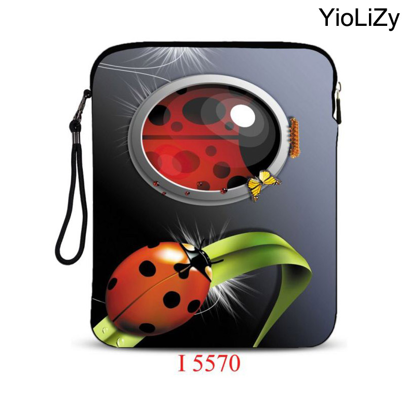 Ladybug print 9.7 inch laptop bag Cover tablet Protective sleeve bag notebook Case pouch For iPad Air pro for ipad 9.7 IP-5570 notebook sleeve protector for mac book 13 for macbook air pro 13 laptop sleeve carry bag case pro waterproof cover