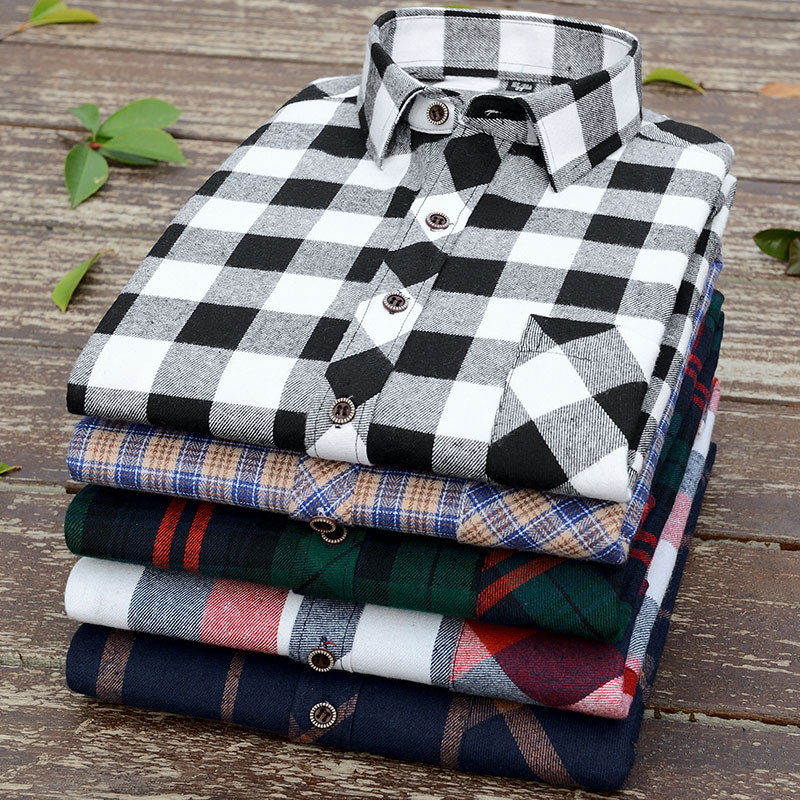 Aoliwen Men?S Plaid Flannel Shirts Long Sleeve Casual Button Down Slim Fit Outfit For Camp Hanging Out Or Work Casual Shirt