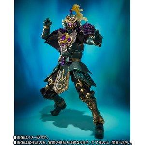 "Image 4 - Original BANDAI SIC/SUPER imaginativo CHOGOKIN exclusiva figura de acción Kamen Rider Ryugen Budou ""brazos"" jinete enmascarado Gaim"""