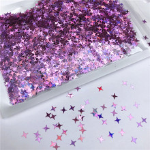 YOOAP 10G Four Star Glitter Diy Crystal Slime Supplies Ultra-thin Slices Nails Art Tips Box Accessories Decoration Toys For Kids