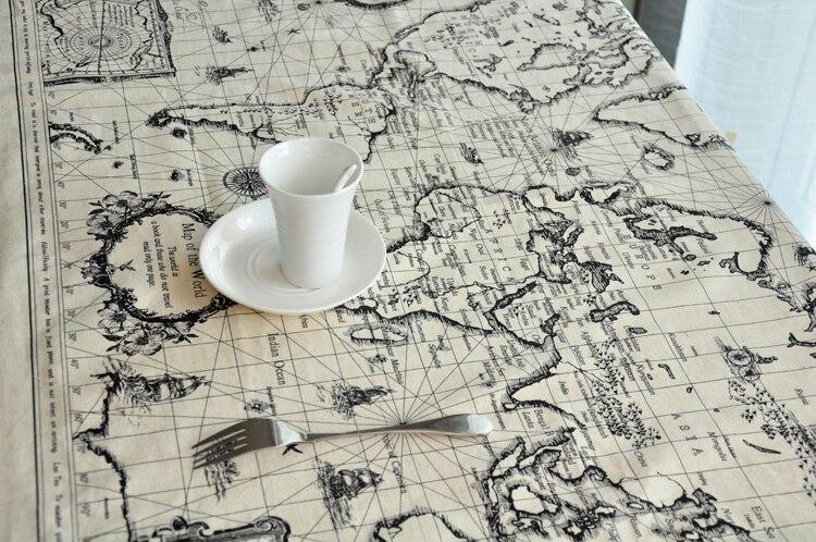 Aliexpress.com : Buy Korean Style Cotton Linen Table Cloth, Retro World Map  Design Toalha De Mesa, Table Decor Size 70*140cm From Reliable Decorating  Cake ...