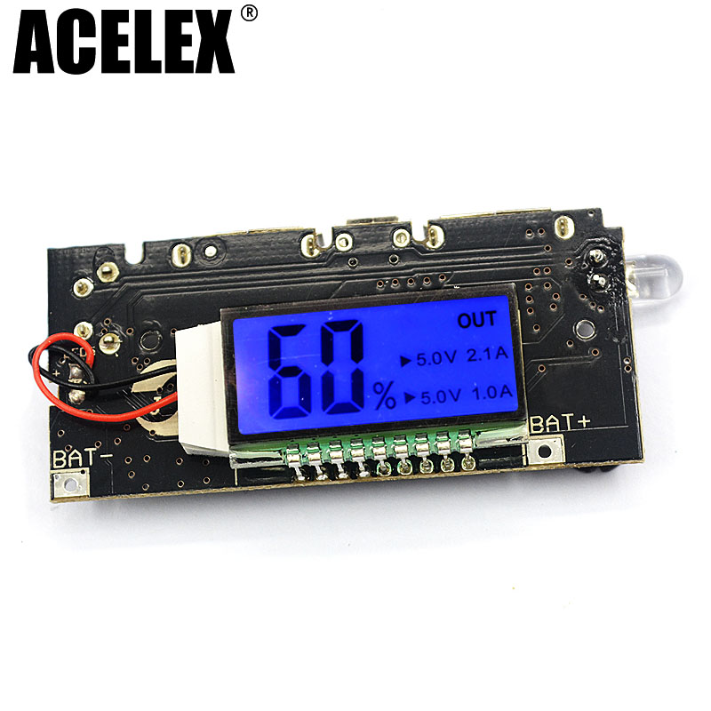 Dual USB 5V 1A 2.1A Mobile Power Bank 18650 Battery Charger PCB Power Module Accessories For Phone DIY New LED LCD Module Board usb 5v 2a mobile phone power bank charger pcb board module for 18650 battery z17 drop ship