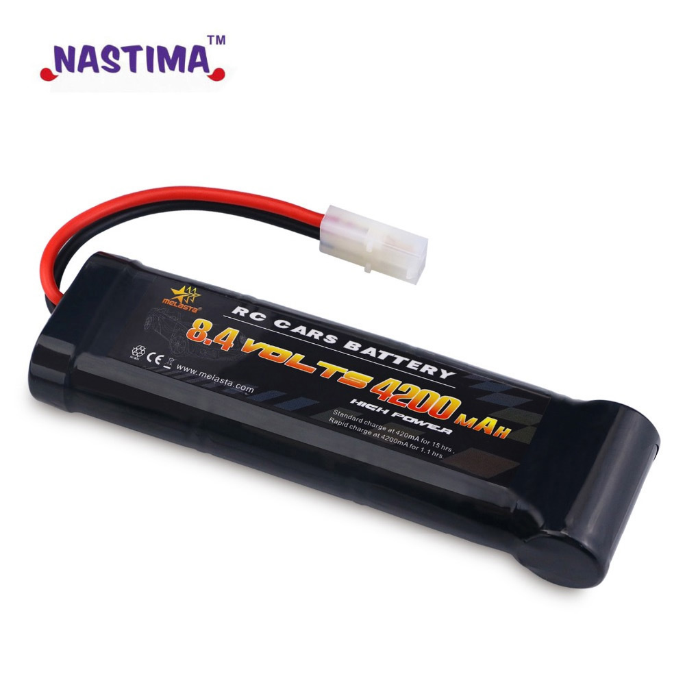 Melasta 8.4V 4200mAh 7-Cell Flat Pack NiMH Battery With Traxxas/Tamiya Discharge Plug For Remote Control Racing Cars RC Toys image