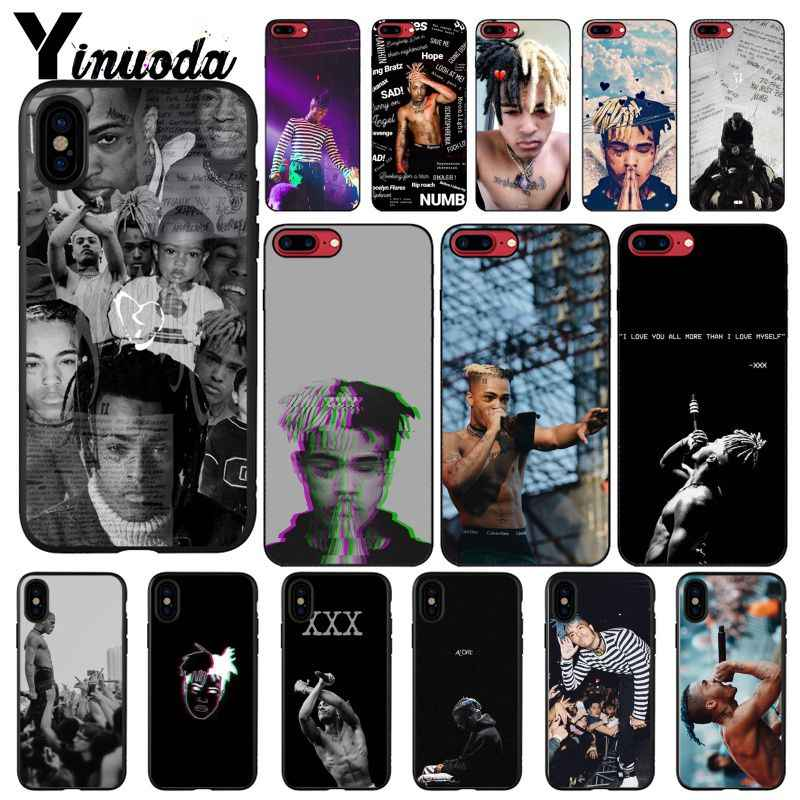Yinuoda Rap Singer XXXTentacion MC Black Soft Shell Phone Case for iPhone 8 7 6 6S Plus 5 5S SE XR X XS MAX Coque Shell