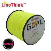 5000M LineThink Brand GOAL  Best Quality Multifilament 100% PE Braided Fishing Line Fishing Braid  Free Shipping