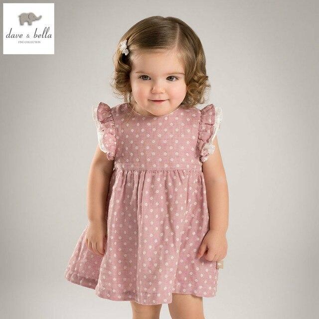 DB4828 dave bella sommer baby mädchen rosa dot prinzessin kleid baby ...