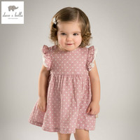 DB4828 Dave Bella Summer Baby Girl Pink Dot Princess Dress Baby Wedding Dress Kids Birthday Clothes