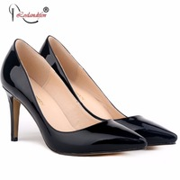 Women Shoes Woman Ladies Sexy Pointed Toe Patent Leather High Heels Fashion Stiletto Pumps