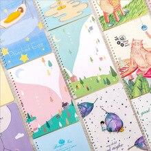 Papelaria criativa notebook bobina A5 32 k horizontal pequeno fresco solto folha de bloco de notas livro de exercícios