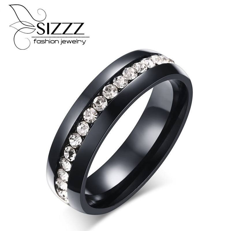 SIZZZ 6MM Wide 4.2G Weight Supply of stainless alloy plated round single-row sticky ring for women