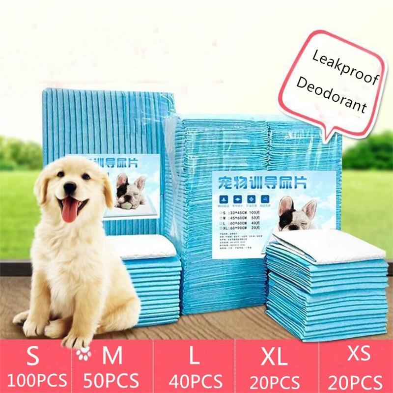 Pet Diapers Puppy Training Pads For Dogs For Small Lager Dog Retriever Labrador Training Urine Pads Diaper Pet Cat Diaper 100pcs