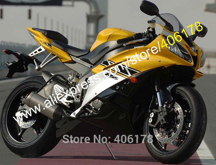US $379 0 |Hot Sales,Cheap Price For YAMAHA 2006 2007 YZF R6 06 07 YZFR6  YZF R6 YZFR600 Yellow black custom Fairing set (Injection molding)-in  Covers