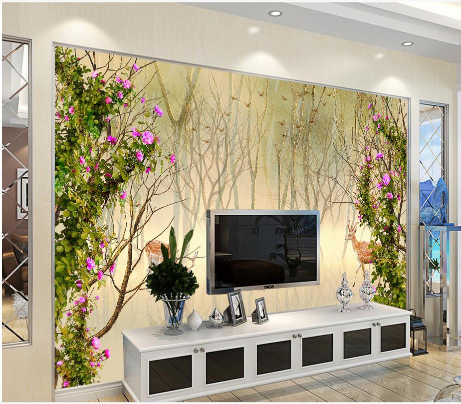 Papier peint photo Papier Peint Photo 8-020P Fleurs Floral Art Abstrait