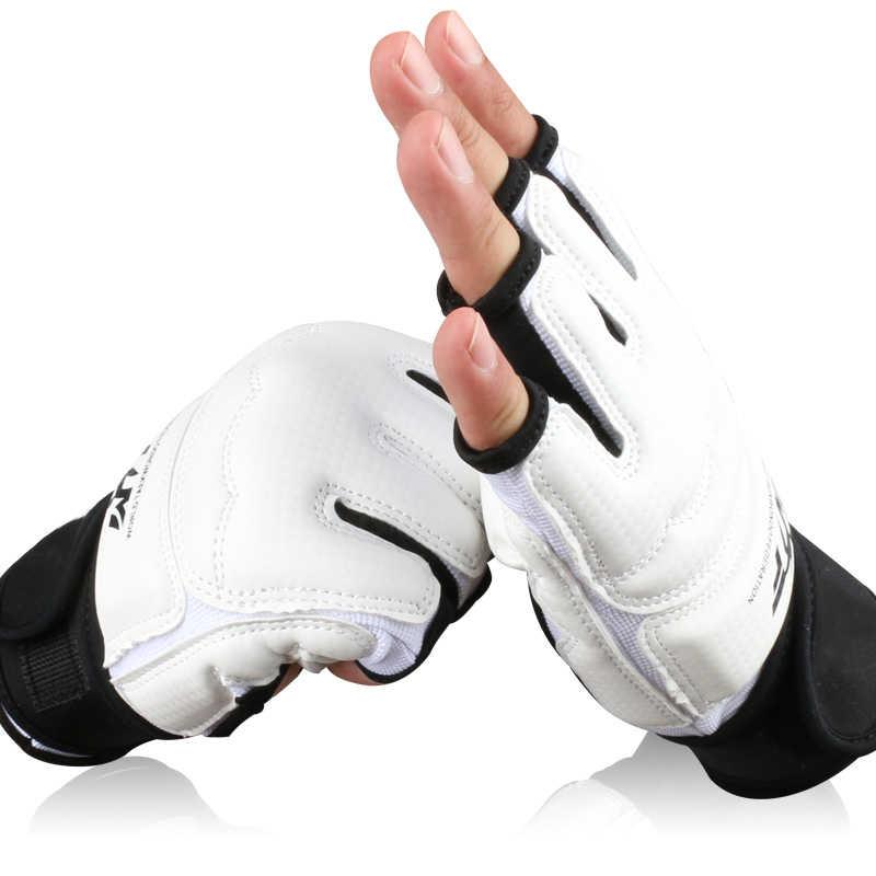 Half Finger Fight Boxing Gloves Mitts Sanda Karate Sandbag TKD Protector For Boxeo MMA Muay Thai Kick Boxing Training  цены