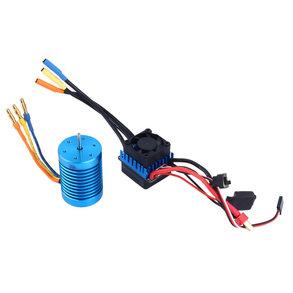 3650 4370KV 4P Sensorless Brushless Motor for 1 10 Racing Car Brushless ESC Accessory 45A Brushless