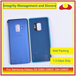 Image 5 - Оригинал для Samsung Galaxy S9 G960 G960F SM G960F корпус батарейный отсек Задняя стеклянная крышка корпус