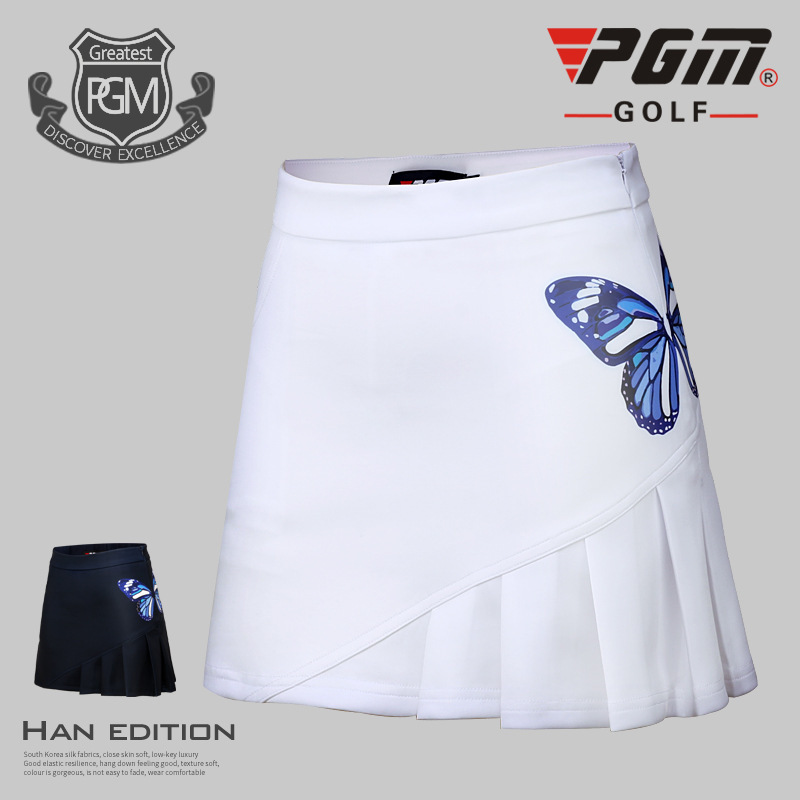 PGM golf Sportswear apparel ladies golf skirt summer women Slim breathable elastic butterfly pattern golf sports Shorts skirts
