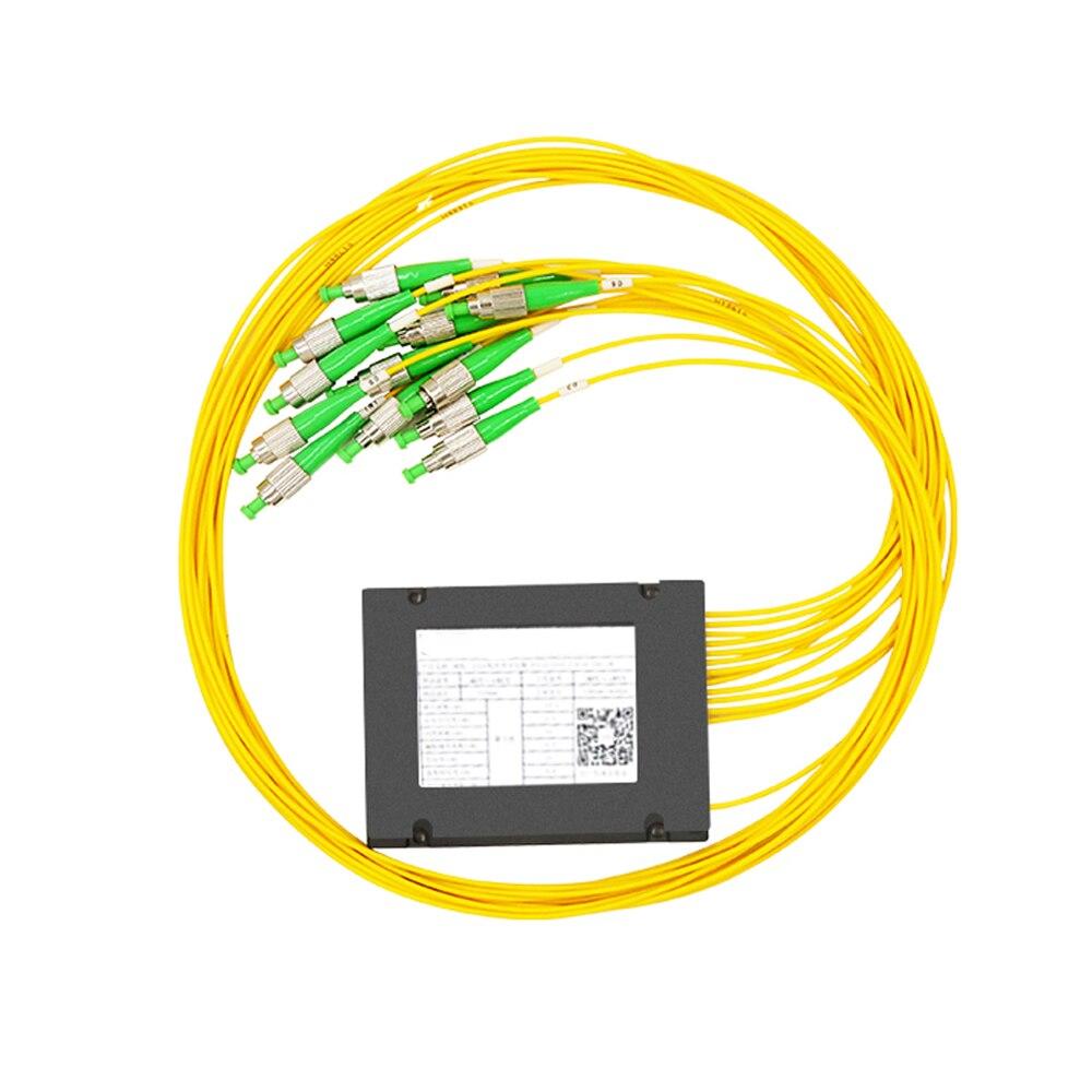 FC/APC 1x12 FBT Fiber Optic Splitter 1260/1650nm Singlemode, PLC Splitter Module SM 1M, High Reliability