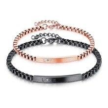 DIY любовь пара Браслеты с Crytal камень Браслеты нержавеющей стали для Для женщин Для мужчин часы браслет Валентина ювелирные изделия подарки