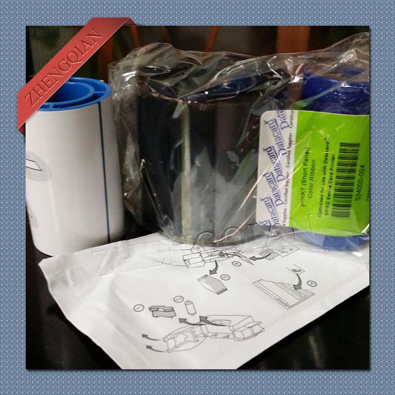 Original Datacard 534000-004/552854-530 half panel YMCKT color ribbon for datacard series card printer