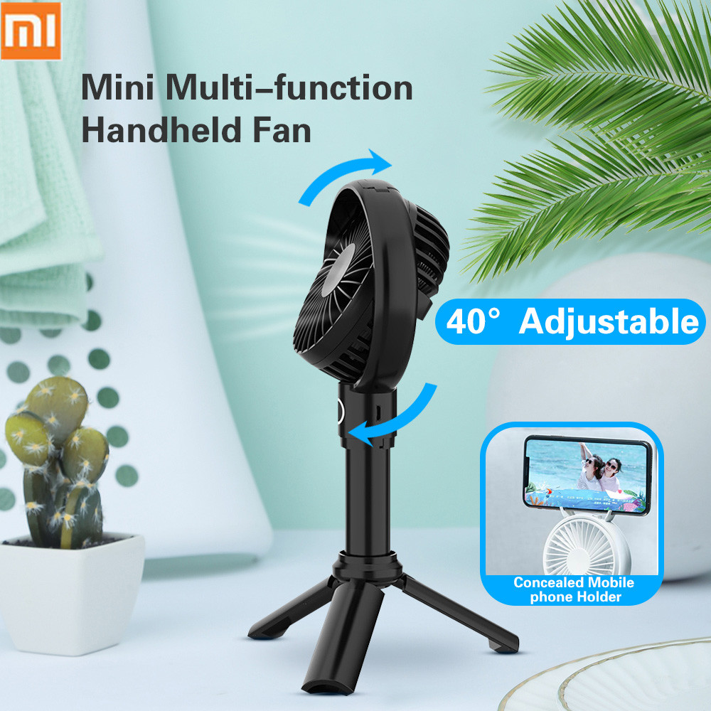 Xiaomi youpin Original VH fan Portable Handheld With Rechargeable Built in Battery 3350mA USB Port Handy Mini Fan For Smart Home