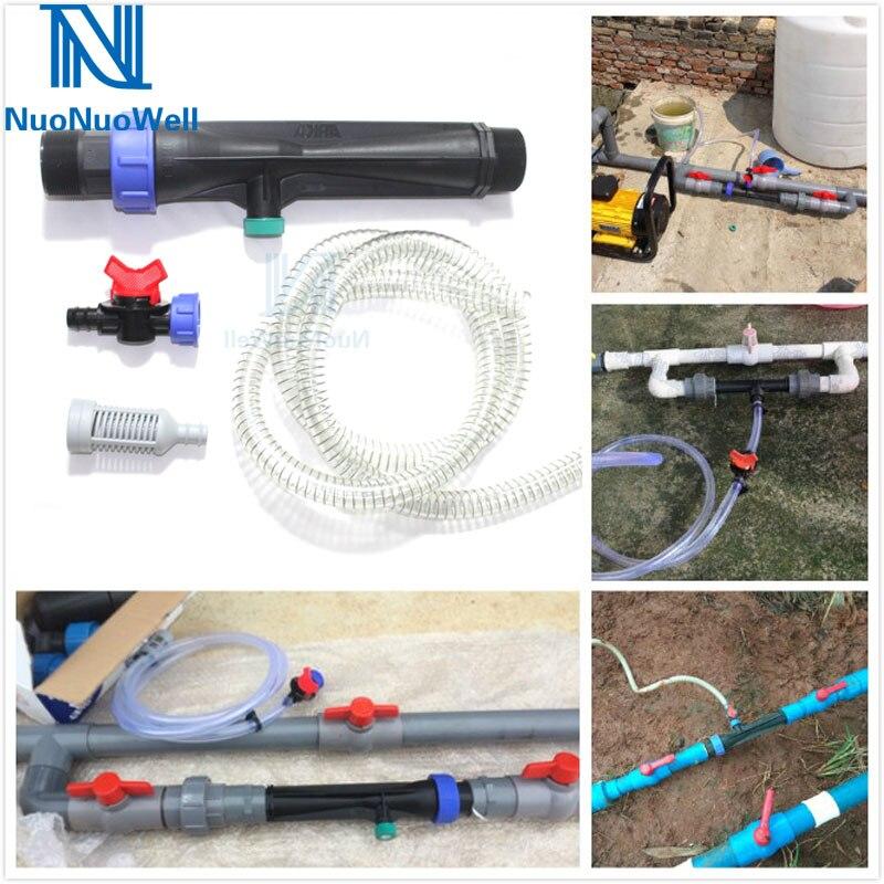 NuoNuoWell 1 zoll 2 ''Bewässerung Venturi Rohr-Wasser Dünger Mischer Injektor Kit Landwirtschaft Garten Liefert Tropf Bewässerung