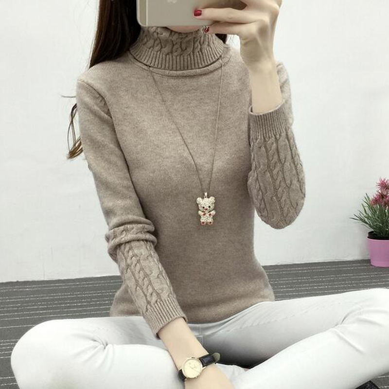 Women Turtleneck Winter Sweater Women 2019 Long Sleeve Knitted Women Sweaters And Pullovers Female Jumper Tricot