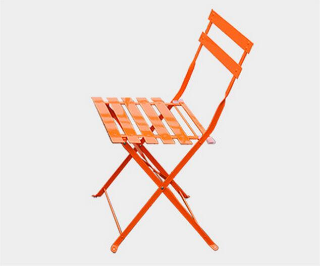 Outdoor Leisure Iron Balcony Chairs Coffee Table Folding Garden Chair