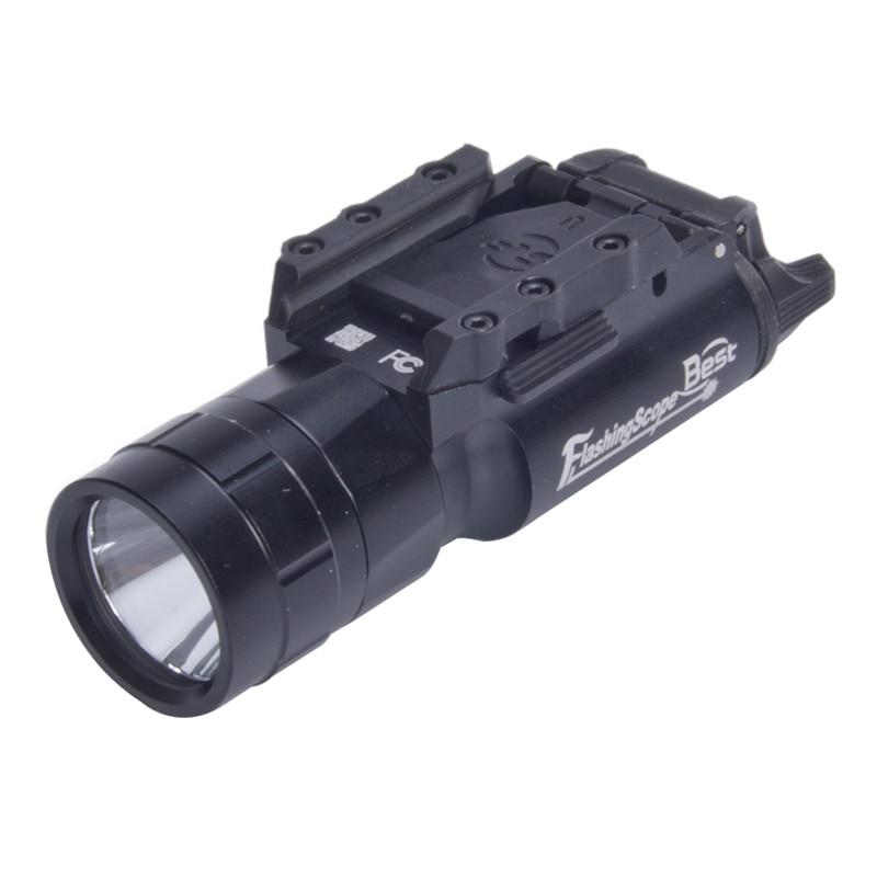 Ultra Light 420 Lumen Gree Tactical Flashlight  Weapon Light Torch LED White Light  With Picatinney Rail