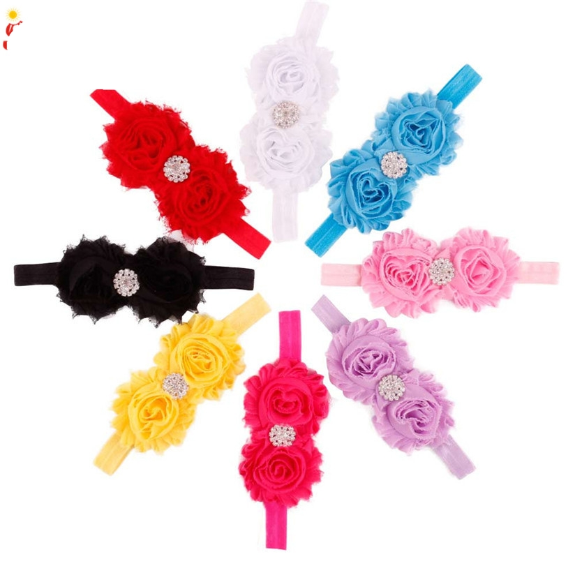 2016 Multicolor Flower Mini Headbands girl hair accessories Girl headband cute hair band newborn floral headband WJul26
