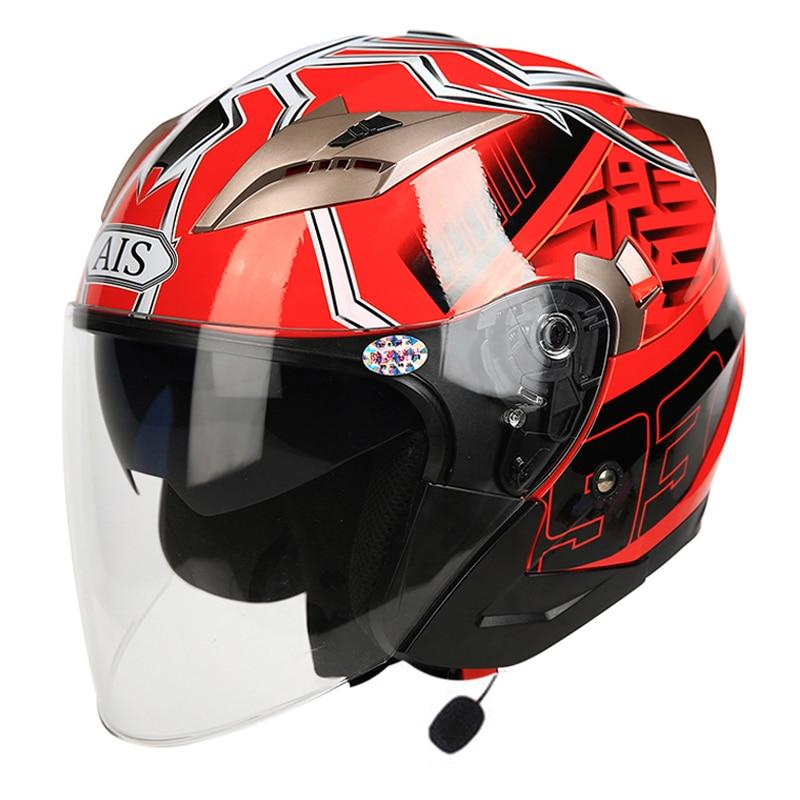 AIS Motorcycle Helmet With Bluetooth Full Face Helmet Flip Up Biker Riding Modular Motocross Helmets Capacete Casco ABS DOT