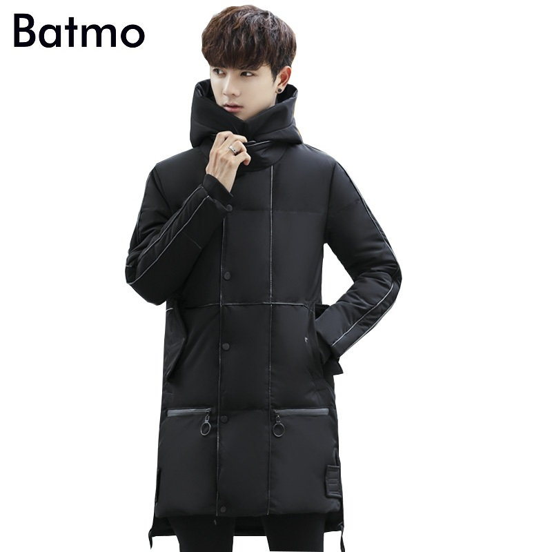 Batmo 2017 new arrival winter high quality white duck down hooded jacket men,winter coat men ,4 colors YR46