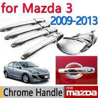 For Mazda 3 2009 2013 Accessories Chrome Door Handle Axela 2010 2011 2012 Sedan Hatchback Car