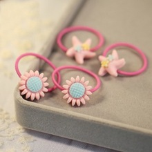 1pcs Fashion Baby Sunflowers Hair Ring Hairpins women girls Cute flower Rope Elastics Accessories