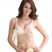 New Maternity Bra Cotton Maternity Bra For Nursing Push Up Hands Free Breast Pump Bra Maternity Breast Feeding Bra Underwear