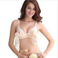 New Maternity Bra Cotton Maternity Bra For Nursing Push Up Hands Free Breast Pump Bra Maternity Breast Feeding Bra Underwear