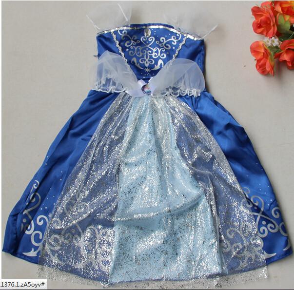 DB23655 Children Girl princess sofia dress-12
